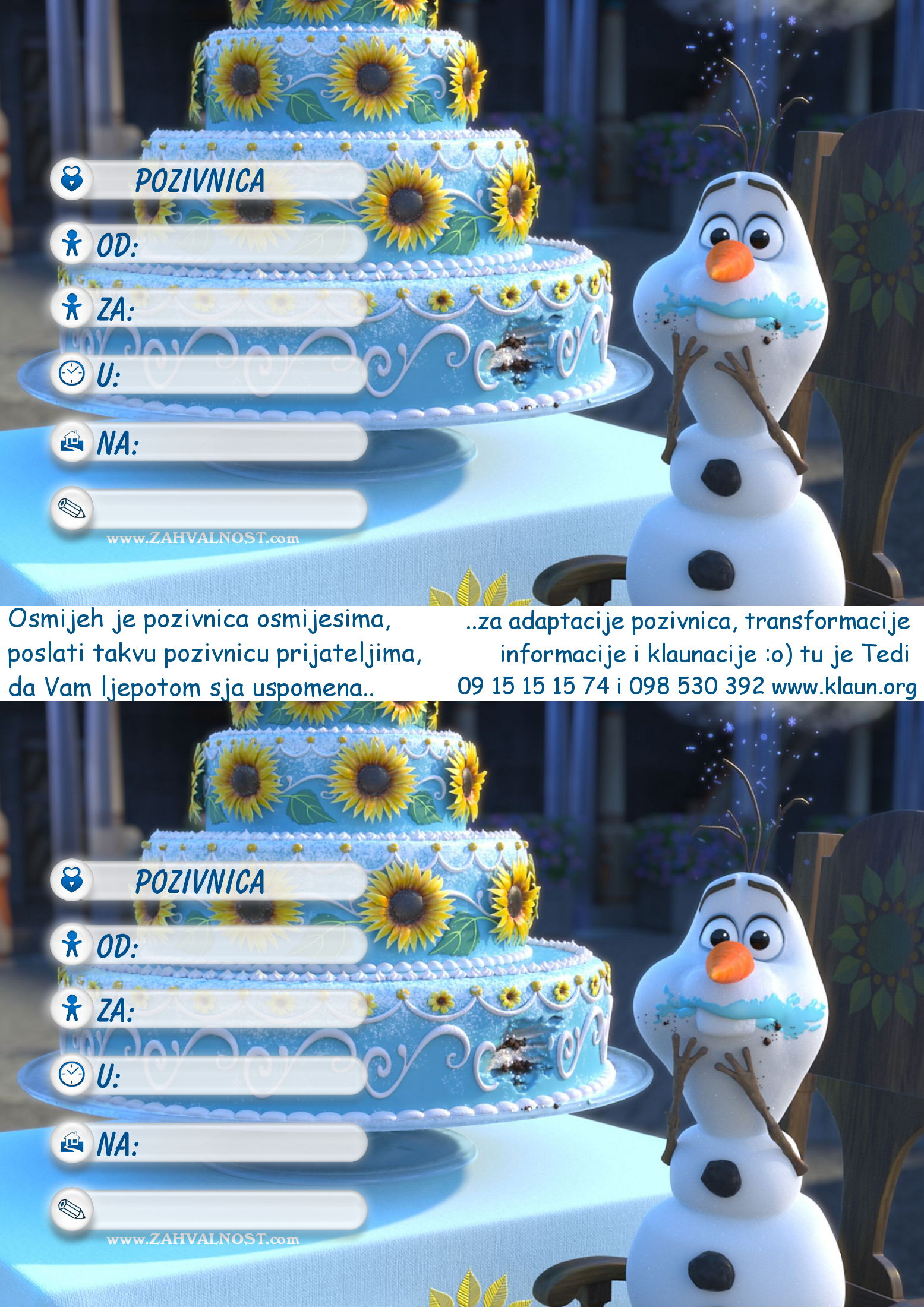 klaun za rođendan Index of /za rodjendan/Pozivnice za rodjendan Frozen Snjezno  klaun za rođendan