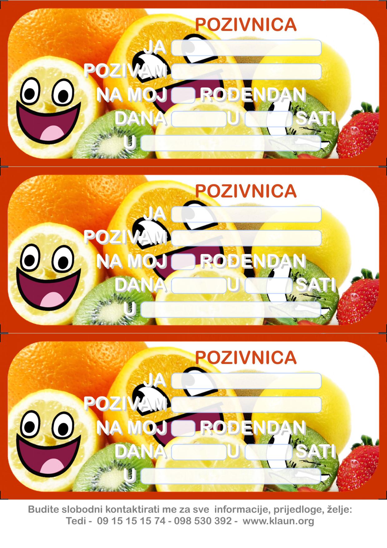 pozivnice za dječji rođendan download Pozivnice za rođendan Smjehuljko 2   Iznenađenje za rođendan ZA  pozivnice za dječji rođendan download