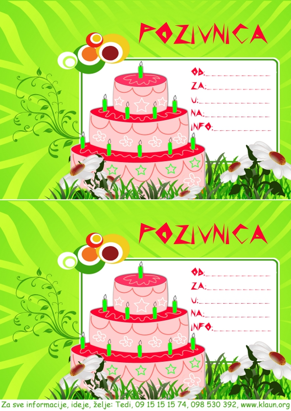Rodjendanske Pozivnice Za Printanje Image Mag : torta za rodjendan pozivnica 009 from imagemag.ru size 595 x 842 jpeg 384kB